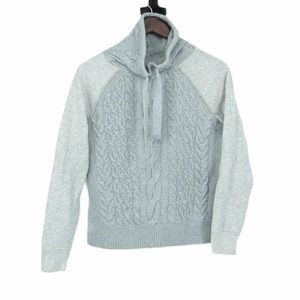 Lou & Grey neutral grey and white hoodie xs